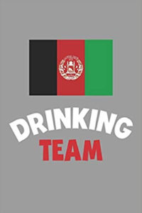 Drinking Team with Afghan flag - Amazon travel notebook